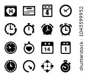 deadline icons. set of 16... | Shutterstock .eps vector #1045599952