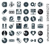disk icons. set of 36 editable... | Shutterstock .eps vector #1045601272