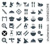 dish icons. set of 36 editable... | Shutterstock .eps vector #1045601398