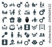 boy icons. set of 36 editable... | Shutterstock .eps vector #1045604122