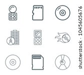 compact icons. set of 9... | Shutterstock .eps vector #1045605676