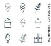 flavor icons. set of 9 editable ...   Shutterstock .eps vector #1045607056