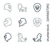 majestic icons. set of 9... | Shutterstock .eps vector #1045607392