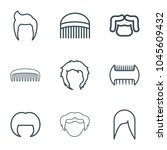 haircut icons. set of 9... | Shutterstock .eps vector #1045609432
