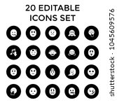 expression icons. set of 20...   Shutterstock .eps vector #1045609576