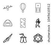 recreation icons. set of 9... | Shutterstock .eps vector #1045610512