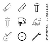 carpentry icons. set of 9... | Shutterstock .eps vector #1045611166