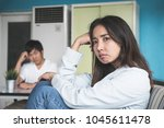 unhappy couple not talking... | Shutterstock . vector #1045611478