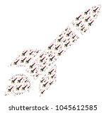 missile launch illustration... | Shutterstock .eps vector #1045612585