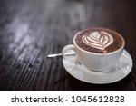 top view of coffee caff   mocha ... | Shutterstock . vector #1045612828