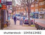 london  march  2018  earlsfield ... | Shutterstock . vector #1045613482