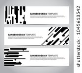 banner covers with abstract... | Shutterstock .eps vector #1045613542