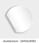 round paper sticker template... | Shutterstock .eps vector #1045618582