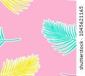 coconut leaves seamless...   Shutterstock .eps vector #1045621165