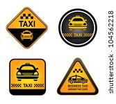 Taxi Cab Set Symbols  Street...