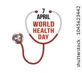 world health day. vector... | Shutterstock .eps vector #1045623442