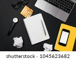 stress and headache at the... | Shutterstock . vector #1045623682