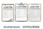 claim form set vector. business ... | Shutterstock .eps vector #1045628086