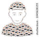 guy pattern constructed in the... | Shutterstock .eps vector #1045628155