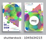 covers templates set with... | Shutterstock .eps vector #1045634215