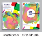 covers templates set with... | Shutterstock .eps vector #1045634308