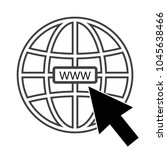 internet icon to website | Shutterstock .eps vector #1045638466