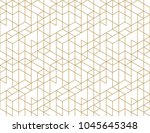 seamless linear pattern with... | Shutterstock .eps vector #1045645348