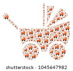 baby carriage pattern designed...   Shutterstock .eps vector #1045647982