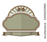 symbol badges vector... | Shutterstock .eps vector #1045653985