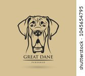 great dane dog   isolated... | Shutterstock .eps vector #1045654795