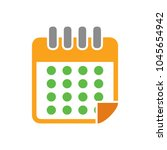 calendar vector icon | Shutterstock .eps vector #1045654942