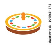 casino roulette icon  game...   Shutterstock .eps vector #1045654978