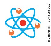 atom icon  atom vector symbol ... | Shutterstock .eps vector #1045655002