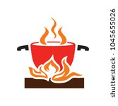 cooking pot icon | Shutterstock .eps vector #1045655026