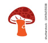 mushroom icon  vector vegetable ... | Shutterstock .eps vector #1045655038