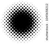 circular halftone gradient... | Shutterstock .eps vector #1045658212