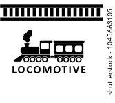 locomotive vector icon. vector... | Shutterstock .eps vector #1045663105