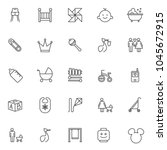 baby accessories outline icons... | Shutterstock .eps vector #1045672915