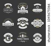 camping logos templates vector...   Shutterstock .eps vector #1045675366
