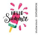 hello summer letting... | Shutterstock .eps vector #1045680436