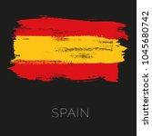 spain colorful brush strokes... | Shutterstock .eps vector #1045680742