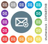 mail settings flat white icons... | Shutterstock .eps vector #1045685548