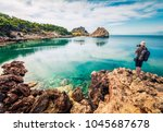 photographer take picture of... | Shutterstock . vector #1045687678