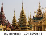 buddhist temple complex... | Shutterstock . vector #1045690645