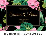 wedding invitation card... | Shutterstock .eps vector #1045695616