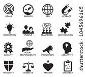 company core values icons.... | Shutterstock .eps vector #1045696165