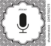 vector icon microphone on a...