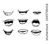 cartoon mouth icon | Shutterstock .eps vector #1045700416