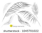 universal trend dotty leaves... | Shutterstock .eps vector #1045701022