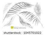 universal trend dotty leaves... | Shutterstock .eps vector #1045701022